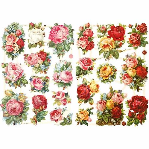 Vintage style Die-Cuts, Roses