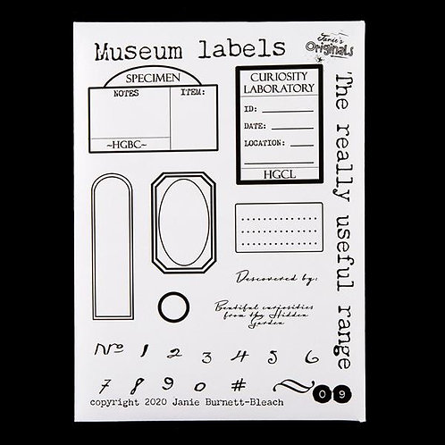 Museum Labels - A6 Stamp Set