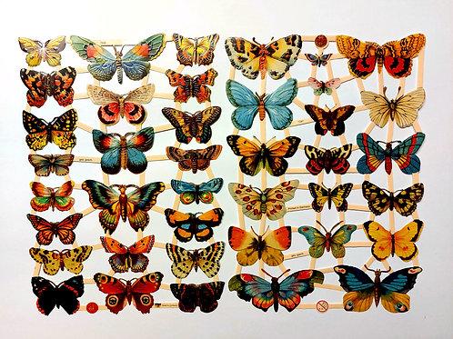 Vintage style die cuts. Butterflies