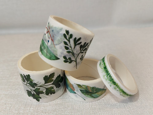Beautiful Botanical washi tape set. 4 pack.