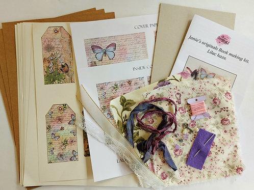 Janie's Book making kit in Lilac haze