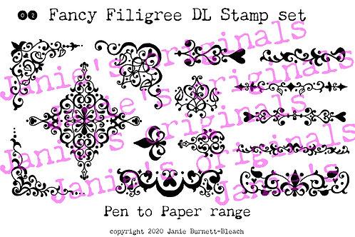 Fancy Filigree 02 DL Stamp set