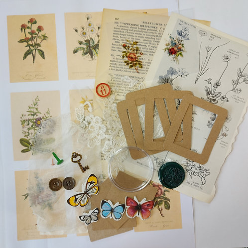 Botanical embellishment kit (add on kit to compliment vintage botanical box kit