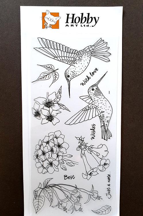 Hummingbirds DL Stamp set. Designed by Janie for Hobby Art