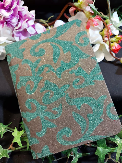 Flocked cover notebook