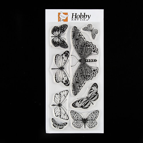 Butterflies DL stamp set designedby Janie for Hobby art