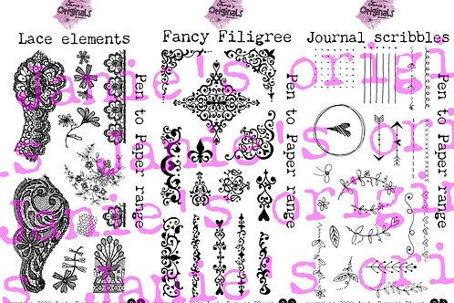 Janie's originals 3 DL Stamp set launch bundle. LIMITED TIME PROMO