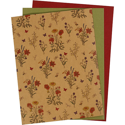 Faux Leather Paper 3pk.