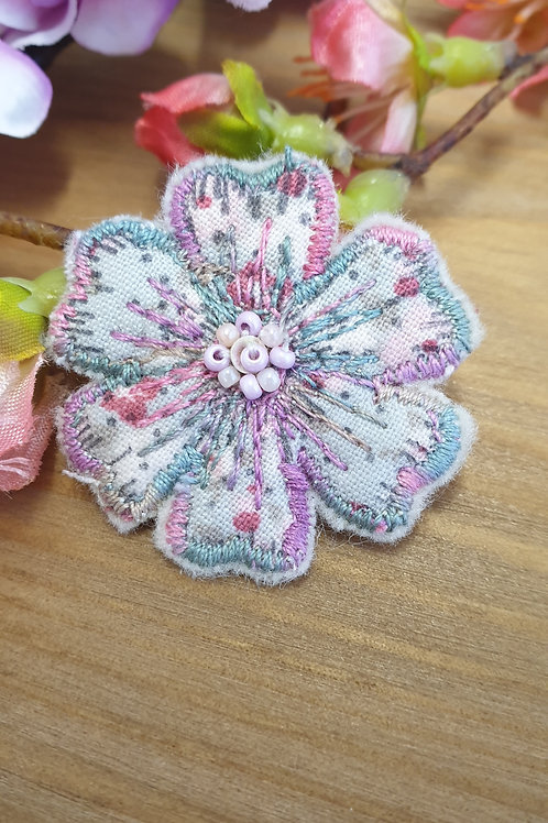 Mini Flower embroidered Brooch