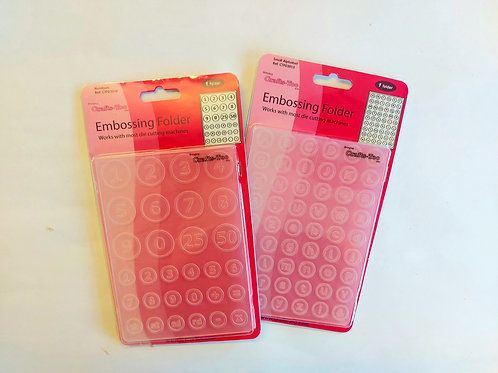 Crafts Too- Embossing folders twin pack