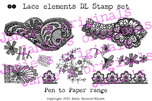 Lace elements 01 DL stamp set