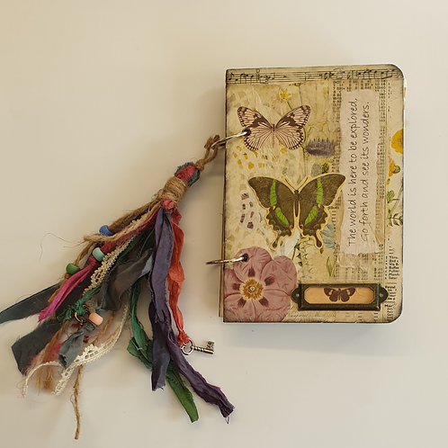 Janie's Gorgeous Butterflies and Blooms Heritage Journal making kit.
