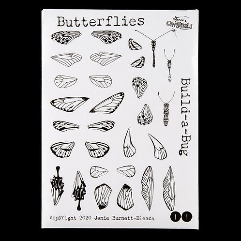 Build-a -Bug Butterfly - A6 Stamp Set