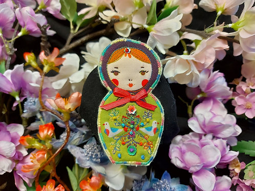 Russian Doll Brooch