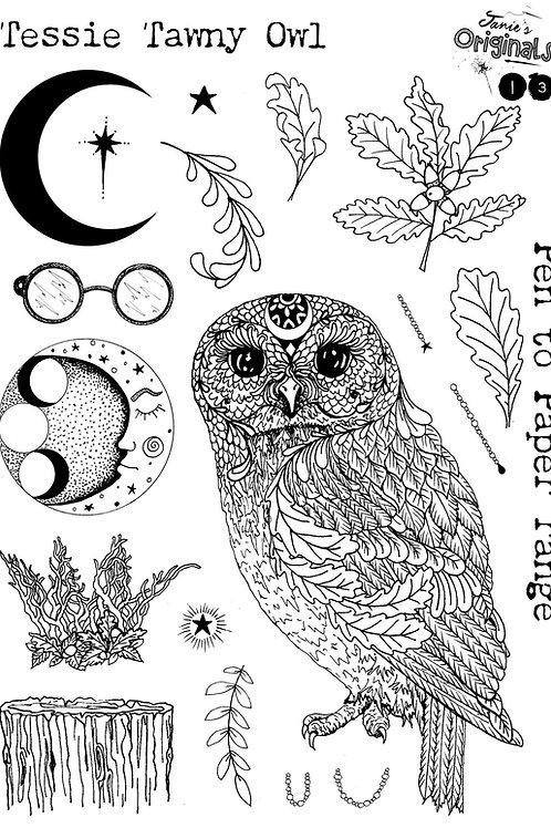 Tessie Tawny Owl A5 Stamp Set