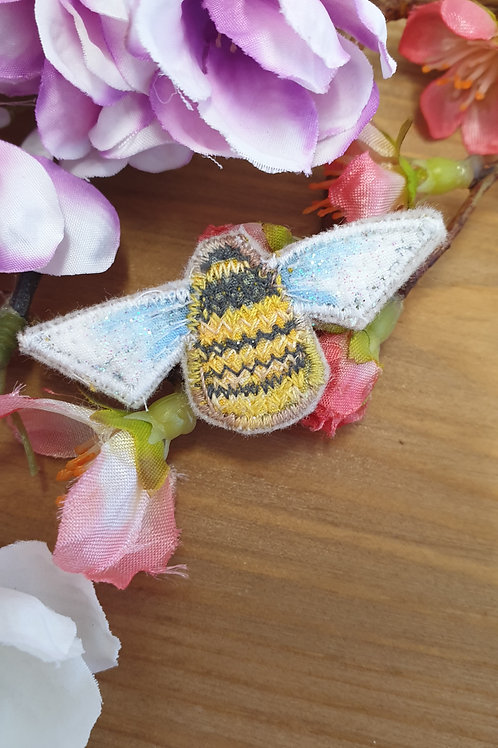 Mini Bee Embroidered Brooch
