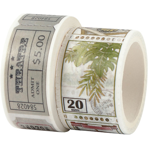 Washi Tape. Tickets and Nature twin pack.
