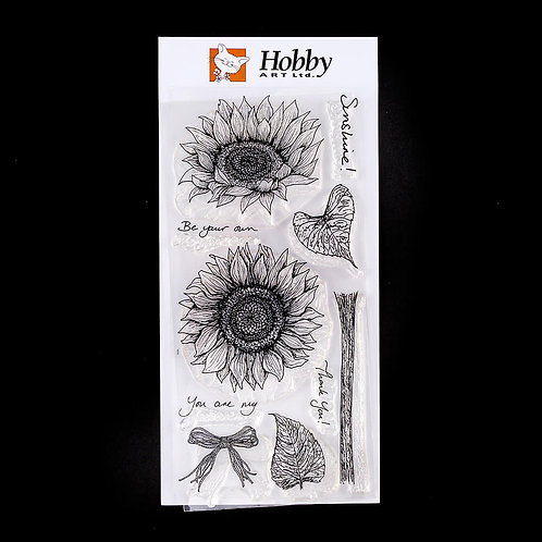 Sunshine and Sunflowers DL Stamp set. Designed by Janie for Hobby Art