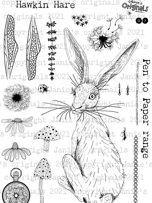 Hawkin Hare A5 stamp set