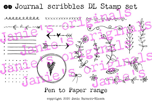 Journal scribbles DL Stamp set