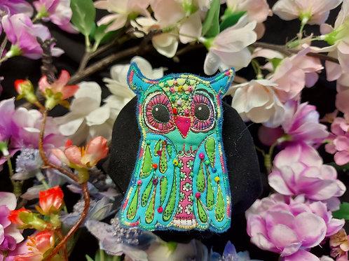 Rainbow Owl Brooch