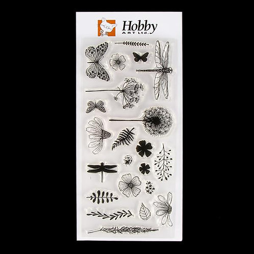 Summer Hedgerow DL stamp set. Designed by Janie for Hobby Art
