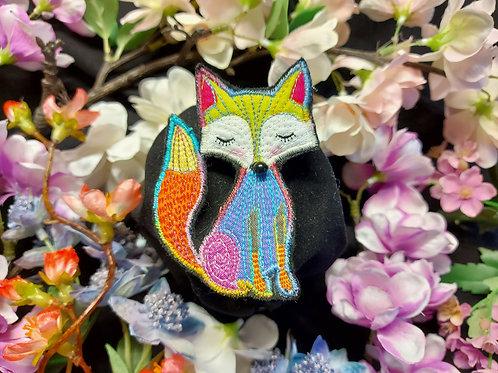 Rainbow Fox Brooch