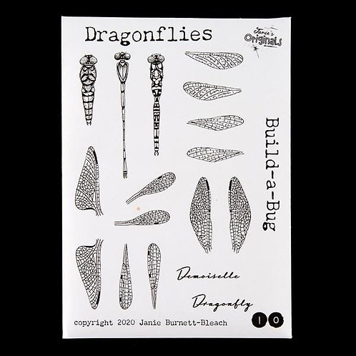 Build-a-Bug Dragonfly - A6 Stamp Set