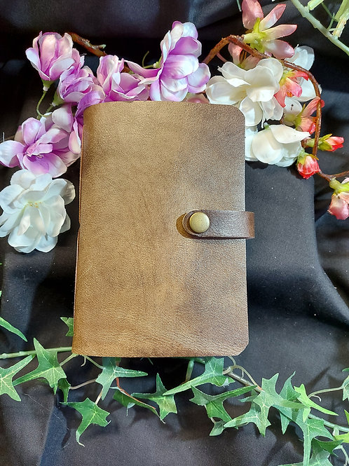 Real leather watercolour book