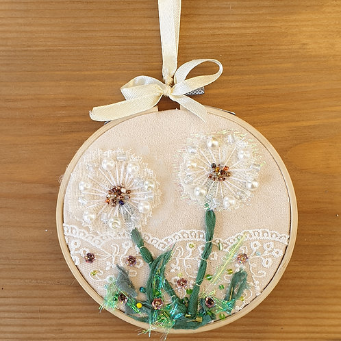 Janie's Limited edition Hand Embroidery Dandelion Hoop kit