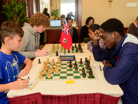 Young chess players battle it out