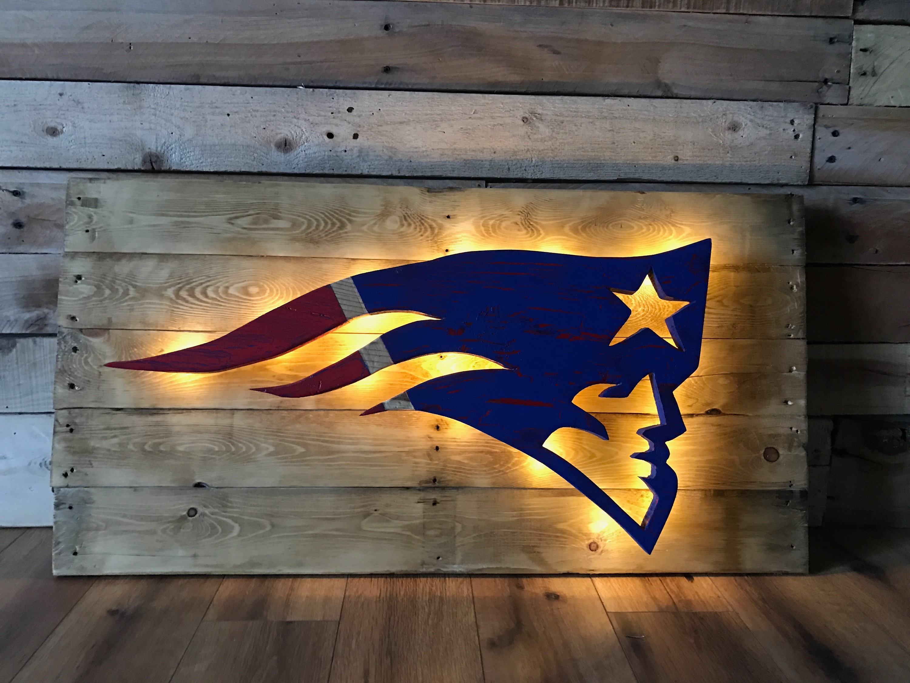 Designsbyfalcone wall decor nfl patriots team logo wall decor amipublicfo Image collections