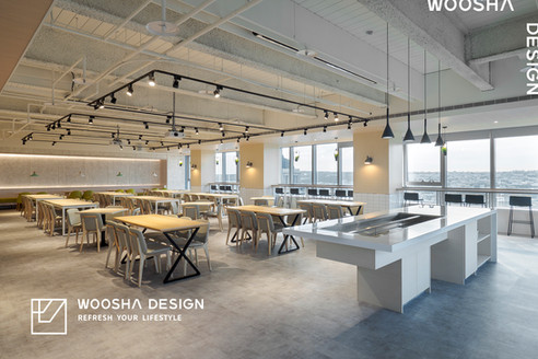舞夏設計-台中辦公室設計-健身房設計-員工餐廳-cafeteria desig