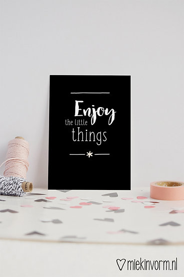 Kaart - enjoy the little things