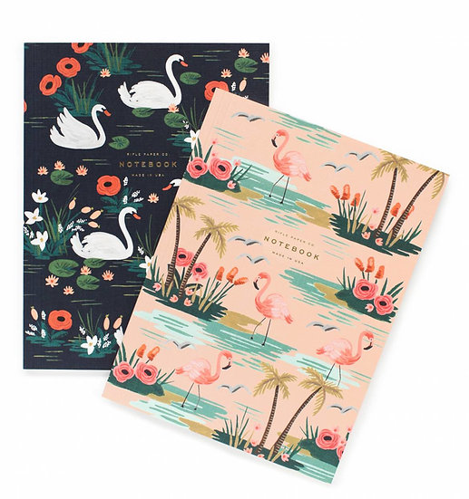 2 notebooks A5 - birds of feather