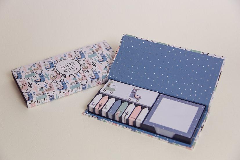 Sticky notes box - alpaca