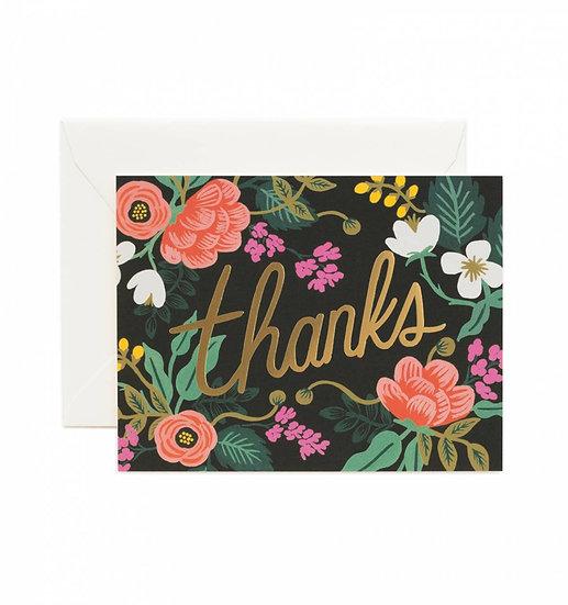 Wenskaart - birch floral thanks