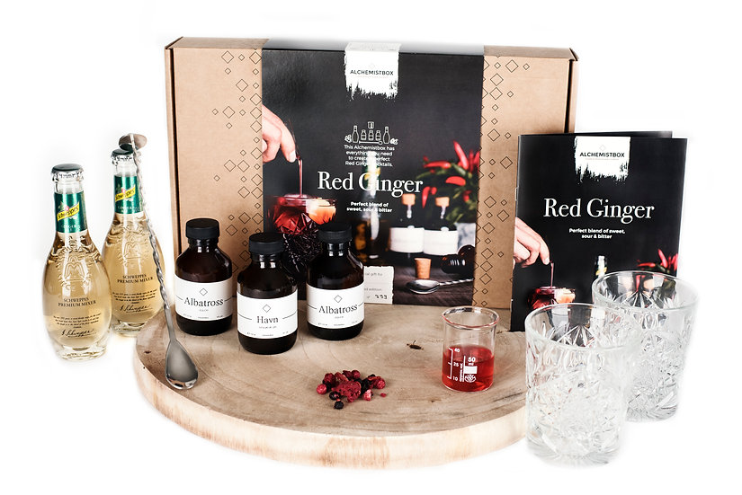 Alchemistbox Red Ginger - Gin Cocktail