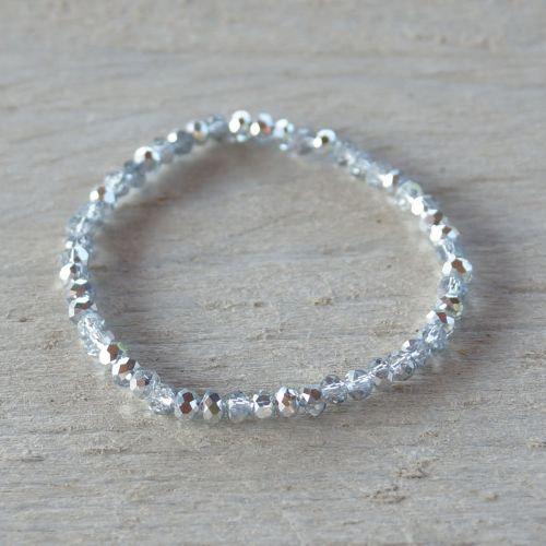 Armband - basic grijs-zilver