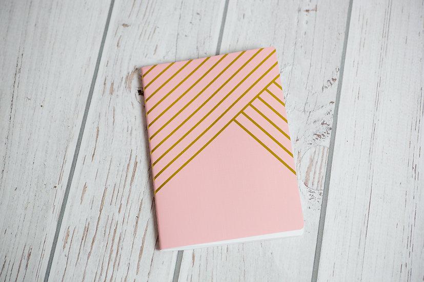 Schrift - roze met gouden lijnen