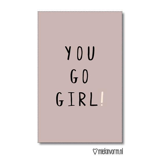 Mini-kaart - you go girl