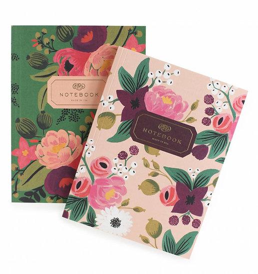 2 notebooks A5 - vintage blossom
