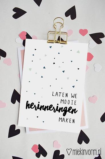 Kaart - laten we mooie herinneringen maken