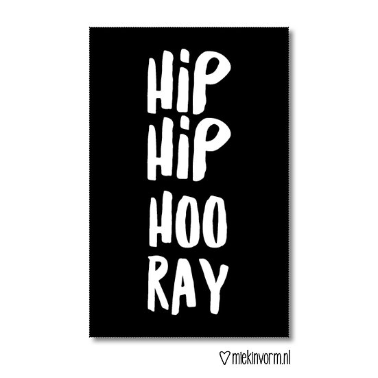 Mini-kaart - hip hip hooray