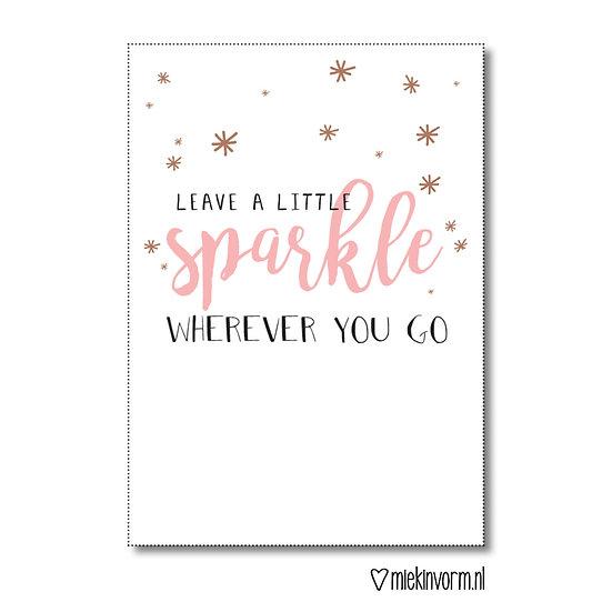 Kaart - leave a little sparkle wherever you go