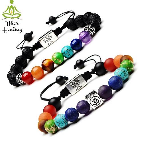 7 Chakras Healing Bracelet- Unisex (Reiki Infused)