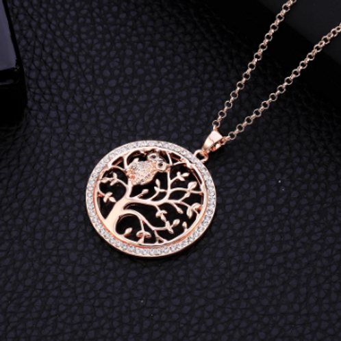 Owl+Tree of Life Necklace (w/ Bracelet)