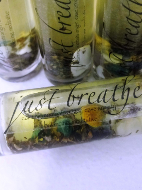 Just Breathe Essential Oil Roller- 10ml (Meditation, Combat Anger & Anxeity)
