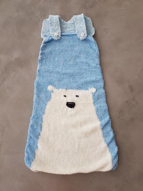 Babyschlafsack mit Eisbär