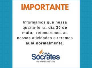 IMPORTANTE - AULAS NORMAIS NESSA QUARTA-FEIRA